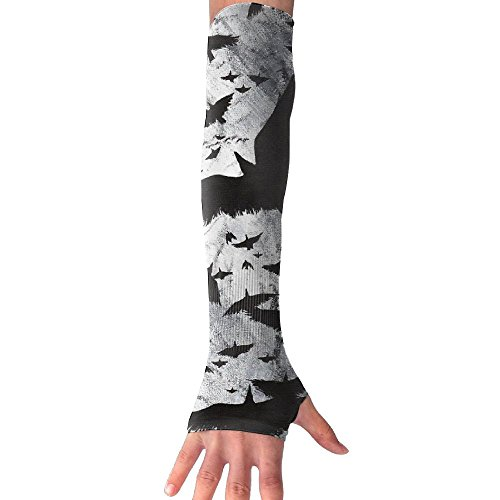 Adult Crows Ravens Art Arm Sleeves Arm Warmer Long Sleeve Glove For Football Baseball Basketball Cycling Tennis 1 Pair - 2 Sleeves