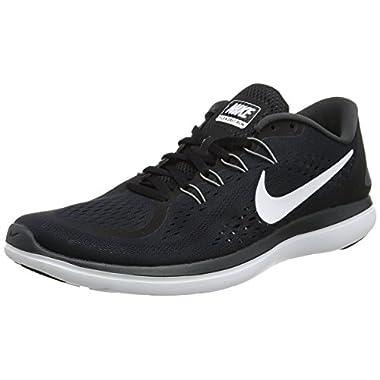 wholesale dealer 42697 60734 Nike Men s Flex 2017 RN Running Shoes (9, Black White-M)