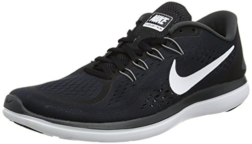 Nike Men's Flex 2017 RN Running Shoes (12, Black/White-M)