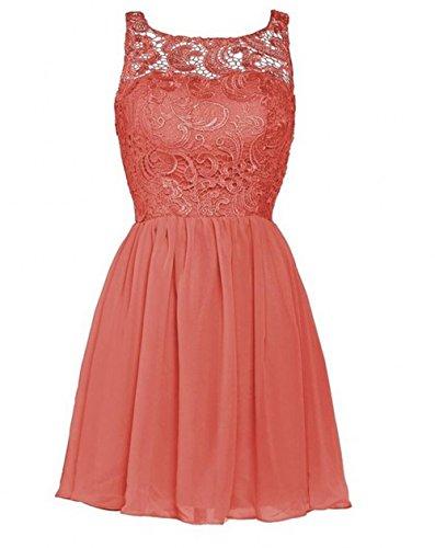 onore Coral Leader da 44 della chiffon in Dress abito d' damigella bellezza Prom pizzo HwPrqH7