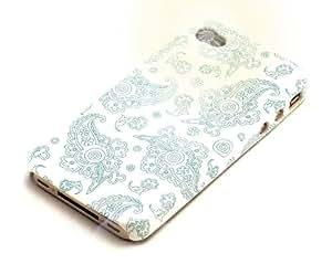 """""""Ayer"""" Azul, El estuche sintético de cuero & """"Desire"""" Negro, Funda de tacto suave - para iPhone 4S. Paquete único de Cubierta / Estuche / Carcasa / Funda para iPhone 4S & Auténtico estuche de tacto suave para iPhone 4S."""