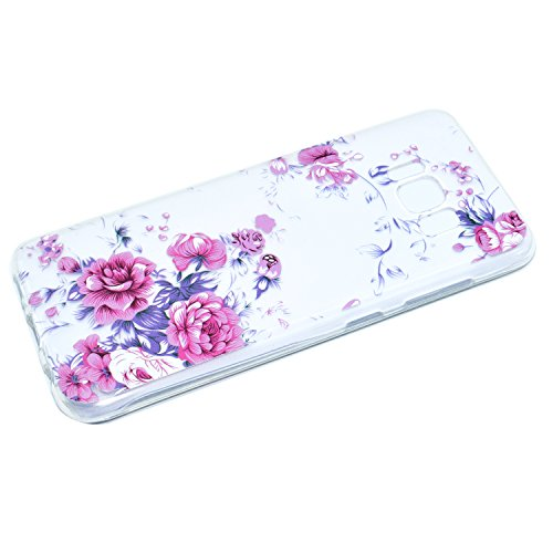 Funda para Samsung Galaxy S8 PLUS Carcasa Protectora Caso Silicona TPU Funda Suave Soft Silicone Case Cover Bumper Funda Ultra Delgado Carcasa Flexible Ligero Caja Anti Rasguños Casco Anti Choque para Rosas rosadas