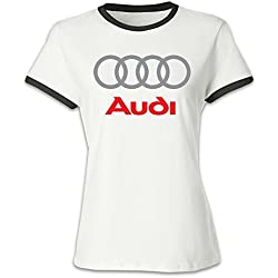 Audi Logo Women's Baseball T Shirt Black