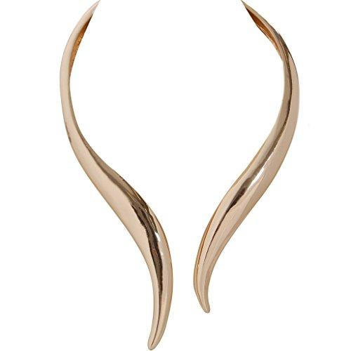 Humble Chic Hinge Bib Necklace - Oversized Asymmetrical Statement Collar Open Choker