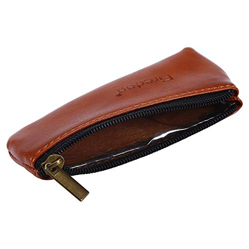 Brino Tobacco Pouch, Portable Zippered PU Leather Pouch Bag Case Holder For Preserving Tobacco & Smoking Pipe ()