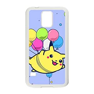 Lovely Pokemon happy Pikachu Cell Phone Case for Samsung Galaxy S5