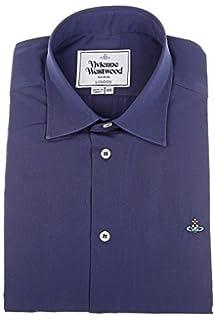 1dcba9804f7e1 Vivienne Westwood Mens Logo Shirt 100% Cotton Sz III L UK 40 Blue