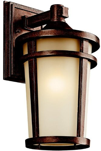 Kichler 49072BST Atwood Outdoor Wall 1-Light, Brown Stone