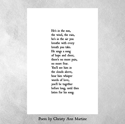 Sympathy Gift - Loss of Father or Son - Poem Print - Memorial Gifts