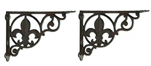 Cast Fleur Decorative Shelf Brackets