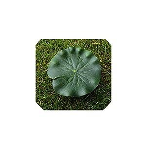2PCS 10CM/ 18CM/28CM Artificial Fake Lotus Flower EVA Lotus Flowers Water Lily Floating Pool Plants Wedding Garden Decoration,Green Lotus Leaf,28CM 109