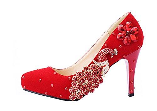 12cm Plataforma Red Mujer Miyoopark Heel tpxgqUzwC