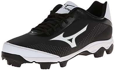 Mizuno Men's 9-Spike Franchise 7 Low Baseball Cleat,Black/White,6.5 M US