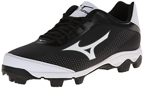 Mens Molded Baseball Cleats (Mizuno Men's 9-Spike Franchise 7 Low Baseball Cleat,Black/White,7 M US)