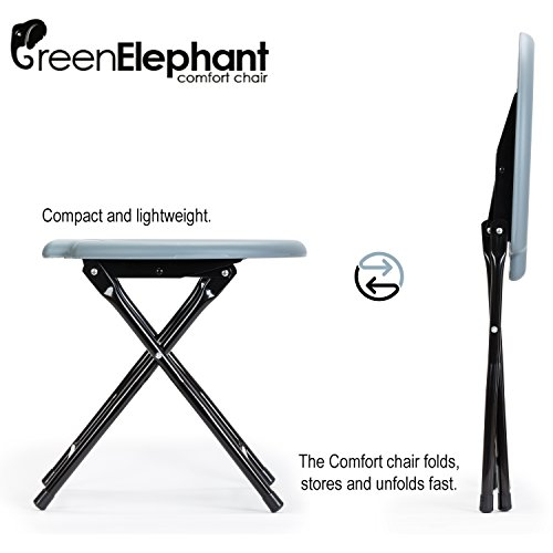Green Elephant Folding Commode Portable Toilet Seat - Porta Potty And Commode Chair - Comfort Chair Perfect for Camping, Hiking, Trips, Construction Sites, and More By by Green Elephant (Image #1)