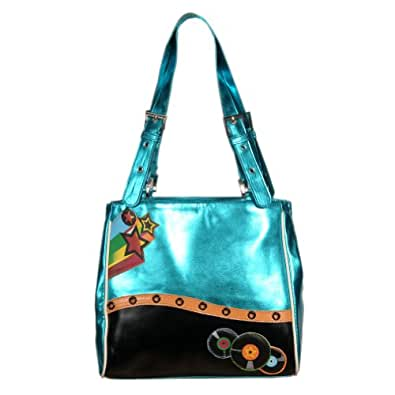 New Blue Record Square Woman's Purse By Shagwear