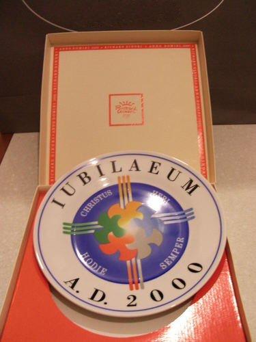 "Richard Ginori: ""Anno Domini 2000"" Exposure Plate Ø 26 cm [ Italian Import ]"