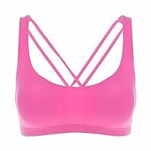 CRZ YOGA Women's Light Support Cross Back Wirefree Yoga Bralette Sports Bra