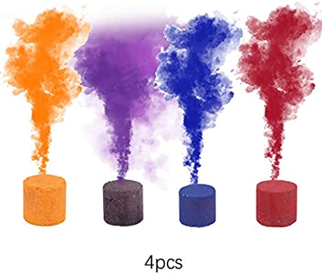 💕💕 4pcs Smoke Cake Colorful Smoke Effect Show Round Bomb Stage
