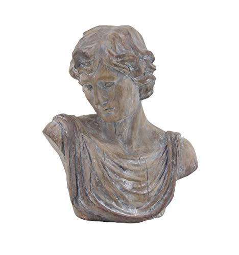 - Deco 79 36863 Traditional Polystone David Bust Sculpture, 9