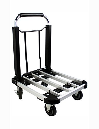 Platform Aluminum Trucks - MaxWorks 80744 Aluminum Folding Platform Truck/Dolly-330 lb. Capacity with Adjustable Platform and Telescoping Handle