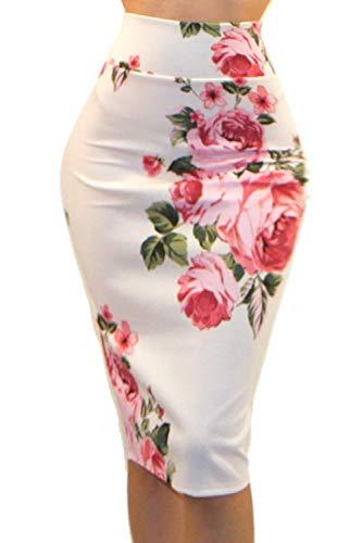 Vivicastle Women's High Waist Band Bodycon Career Office Midi Pencil Skirt (Large, AI3, ()