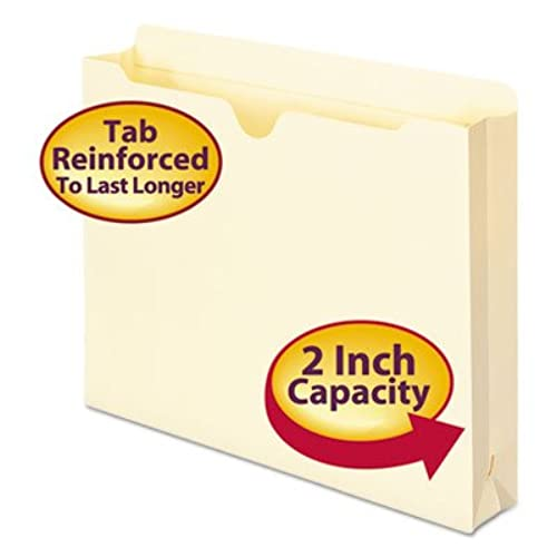 "Nice 2-Ply Top File Jackets, 2"""" Accordion Expansion, Letter, 11 Point Manila, 50/Box, Sold as 50 Each for sale THPhufY0"