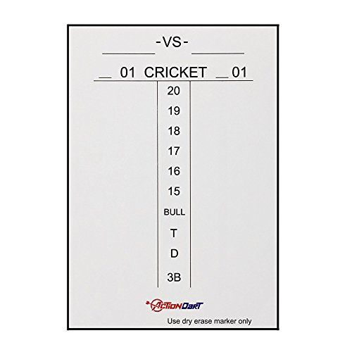 Learn More About ActionDart Magnetic Dry Erase Scoreboard - Cricket and 01 Dart Games - 14 x 10 - ...