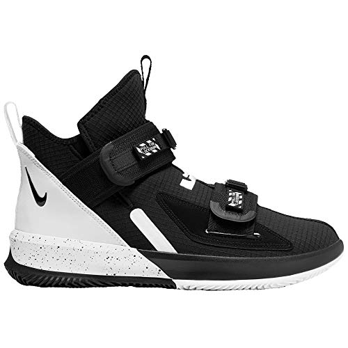 Nike Lebron Soldier XIII SFG TB Basketball Shoes, CN9809-002 (12 M US) Black/White (Men High Top Sneakers Nike)