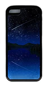 iPhone 5C Case Shooting Star Sky661 TPU iPhone 5C Case Cover Black