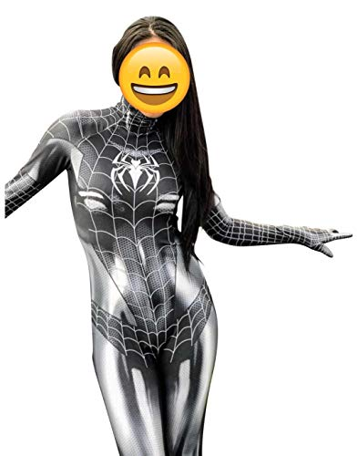 Black Cat Cosplay Costume | Symbiote Black Cat Suit | Spider-Man Costume | Black Cat Suit (Large) -