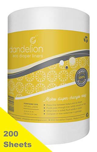Dandelion Diapers Biodegradable Flushable Eco-Friendly