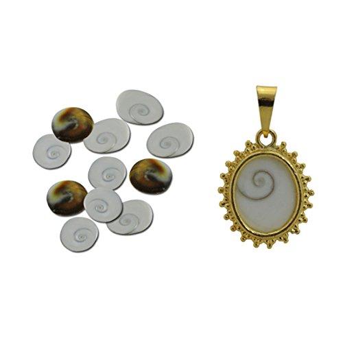Opal Goddess Pendant (Ratnatraya Combo Set Of 11 Gomati Chakra and Gomti Chakra Pendant For Wealth and Mystic Laxmi Pooja)