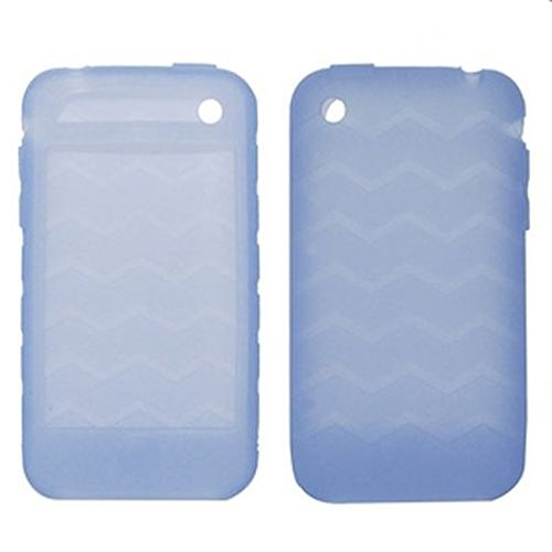 Network Shop   iPhone 3G/3GS case en silicone Clear Bleu (vagues) de tierces Parties