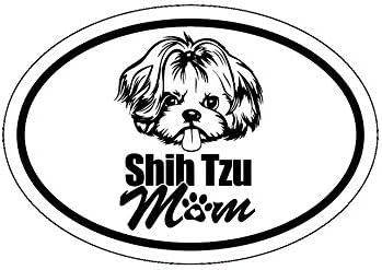 Perfect for Laptops Tumblers Windows Cars Trucks Walls Cups WickedGoodz Shih Tzu Mom Vinyl Decal Dog Breed Bumper Sticker