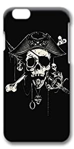 iPhone 6 Case, Custom Design Protective Covers for iPhone 6(4.7 inch) PC 3D Case - Pirate Skull
