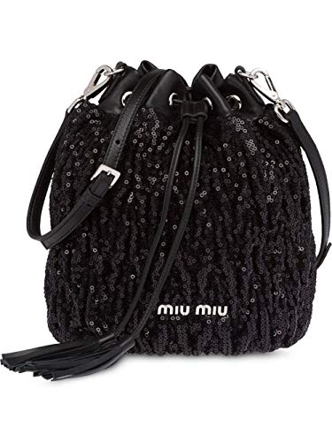Miu Miu Women's 5Be0142b6cf0002 Black Leather Clutch ()