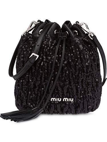Miu Miu Women's 5Be0142b6cf0002 Black Leather Clutch