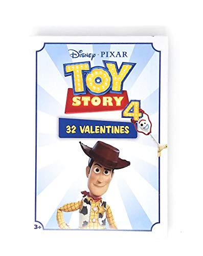 Pack of 32 Valentines Day Cards for Kids - Girls Boys School Classmates - Classroom Party Favor Trade Gift Exchange (Toy Story 4)