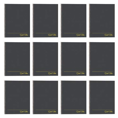 Ampad Gold Fibre Designer, Project Planner,Size 9-1/2 x 7-1/4, Asst Covers, 84 Sheets per Notebook (20-817) 12 Pack