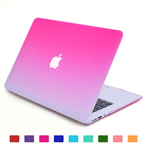 """TXEsign Fade to White Matte Carrying Hard Shell Case for MacBook Air 13.3"""" A1466 & A1369 (Hot Pink)"""