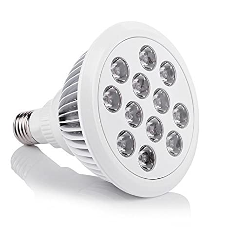 Stoog Bombilla para Crecimiento de Plantas Alta Potencia 24W 12 LED E27, Lámpara Luz para Vegetal Planta Flor de Florecimiento en Invernadero, 3 ...