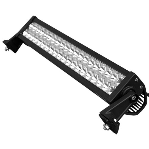 "20"" 120W Xenon White LED Bumper Spot Driving Fog Light Bar + Mounting Bracket Off-road SUV Boat Truck 4x4"