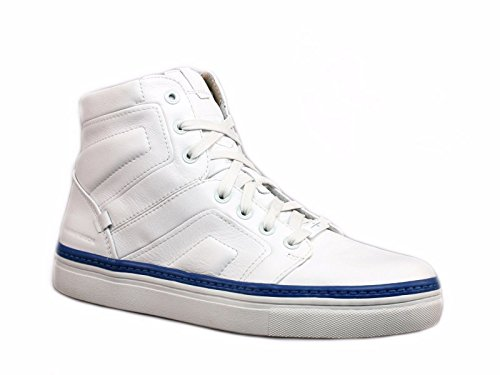 Price comparison product image Mark Nason Skechers Mens Signal High Top,White/Blue,US 12 M