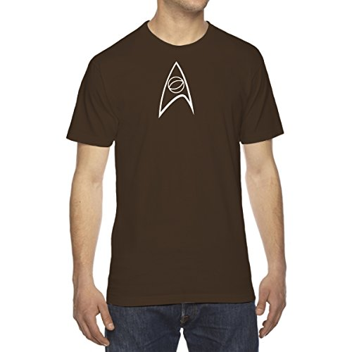 - Men's Starfleet Science Insignia T-Shirt - Medium CHOCOLATE BROWN