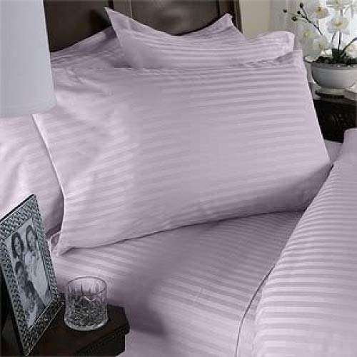 JESSICA SANDERS 1200 Thread Count 100/% Egyptian Cotton FULL//QUEEN Duvet Cover Set Striped LILAC 3892034