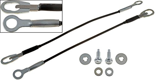APDTY 49652 Tailgate Cable Support Wire Set w/Mounting Hardware For 1998-2004 Nissan Frontier & 2009-2014 Nissan NP300 (Both Left & Right Cables Included) (Replaces Nissan 90460-8B400,904608B400)