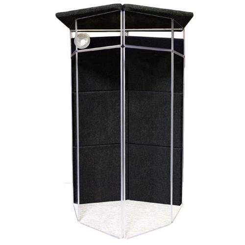 Clearsonic Booth - ClearSonic IsoPac G Small Vocal Booth Kit, Includes A5-6 6-section CSP, 6x AX-12 Height Extender, 6x S2 SORBER Baffle, 2x STS4 Side Lid Section, Short Support Bar and Fan, Dark Gray