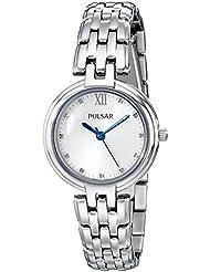 Pulsar Womens PH8125 Analog Display Analog Quartz Silver Watch