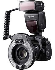 YONGNUO YN14EX II Macro Flash voor Canon DSLR Camera met Grote Size Lcd scherm Adapter Ringen Kleur Temperatuur Filters Hot Schoen Mount Ondersteuning M/TTL Flash